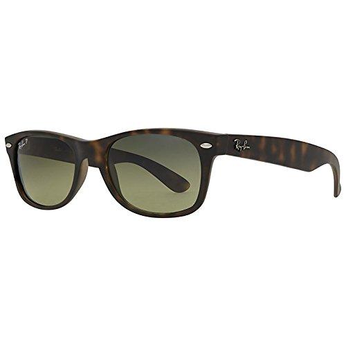 Ray-Ban New Wayfarer Sunglasses (RB2132) Tortoise/Crystal Brown Polarized Lenses - Polarized - - Wayfarer Ray Ban 18 55 New