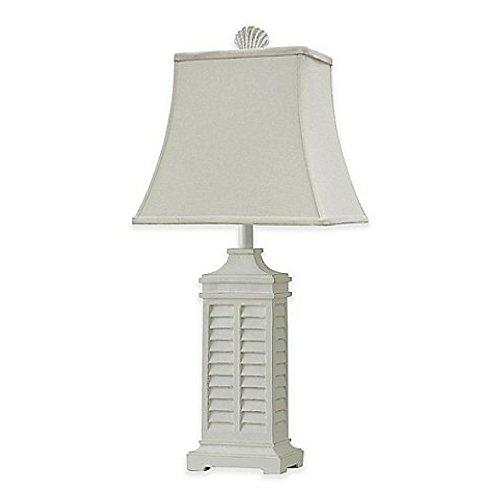 Coastal Shutter Table Lamp in White
