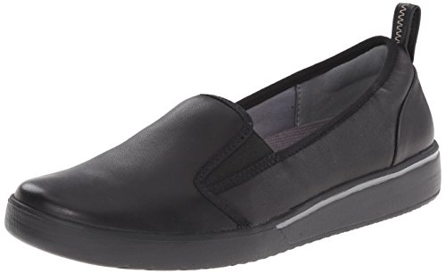 Clarks Women's Penwick Albee Flat Black Leather