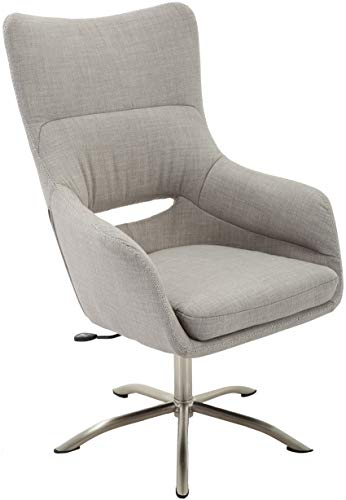 Hanover Carlton Wingback Stationary Taupe with Adjustable Gas Lift Seating and Chrome Base, HOC0009 Office Chair