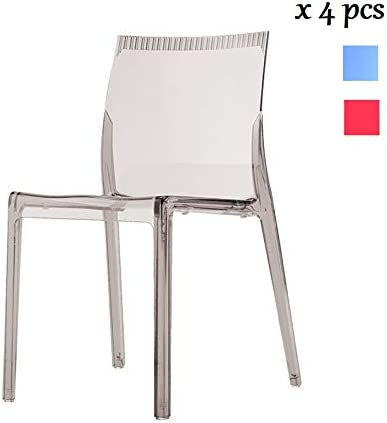 I.T.F. Design SRL Waves Lot de 4 chaises empilables en