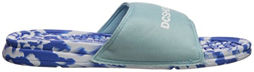DC Women's Bolsa Sp Slide Sandal, Light Blue Light Blue