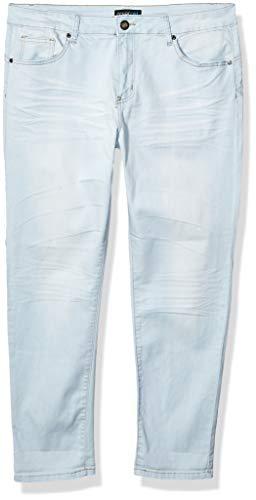 CG JEANS Juniors Big Plus Size Large Skinny Fit Cuffed Acid Washed, Light Blue, 16 (Plus Size Acid Wash Jeans)