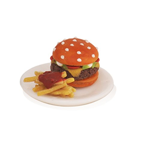 Georgetown Home & Garden Miniature Hamburger and Fries Garden Decor For Sale