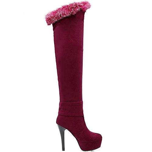 Women Stiletto Fashion Boots Coolcept Red Thigh wqZ7qgd1