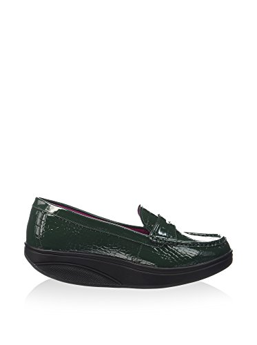 MBT Luxe Verde Green Mocassini Bottle Donna Shani Patent Penny Loafer AqACr