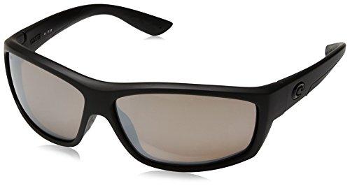 Costa del Mar Men's Saltbreak Polarized Iridium Oval Sunglasses, Blackout, 64.6 - Stream Sunglasses