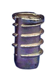 E-Z Lok Threaded Insert, Zinc, Hex-Flanged, #8-32 Internal Threads, 10mm Length (Pack of 100)