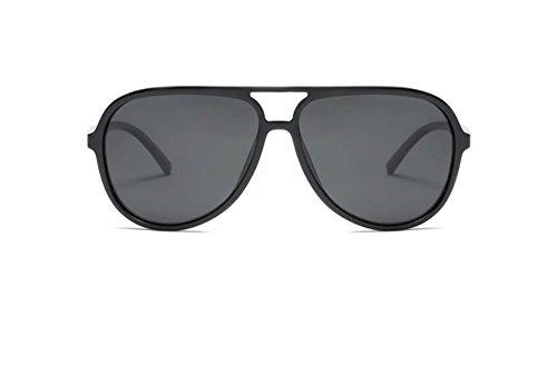 - Polarized Aviator Sunglasses for Men Black TR90 Frame Ultralight Sunshades (Black, 65)