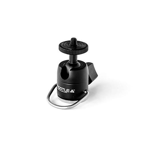 Grifiti Nootle D-Ring Mini Ball Head Works with iPad Tripod Mounts, Cameras, iPhone Holders, Brackets, Music Stands, and Photography Light Stands