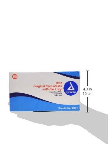 Dynarex 2201 Surgical Medical pack 50 Face Of Masks