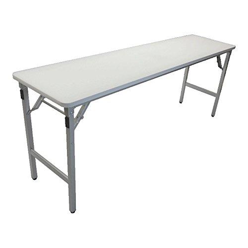 超軽量約8kg 折畳みアルミ製会議用テーブル  幅180cm×奥行45cm×高さ70cm B06XHPCKQJ