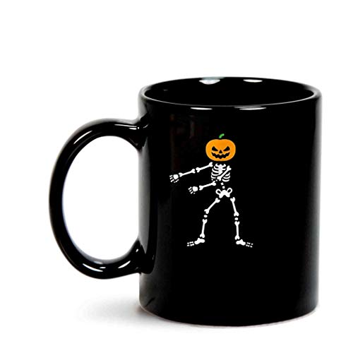 Funny Pumpkin Head Skeleton Floss Dance Halloween ()