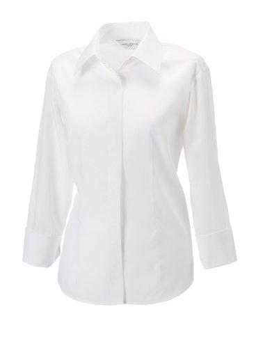 Russell Kollektion für Frauen 3/4 Ärmel Tencel ®-Hemd Weiß 3XL