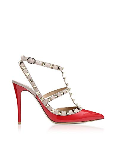 VALENTINO Women's Qw1s0393vnwr1937 Red Leather Sandals, used for sale  Delivered anywhere in Canada