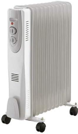 Radiador de Aceite termostato Ajustable 3 potencias (hasta 2500W): Amazon.es: Electrónica
