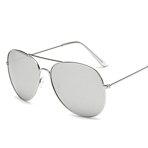 Fheaven Men Women Square Vintage Mirrored Sunglasses Eyewear Outdoor Sports Glasses Gift for Driving,Fishing with Box - Image Eyewear Sunglasses