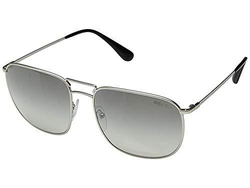 (Prada Men's 0PR 52TS Matte Silver/Gradient Grey Mirror Silver One Size)
