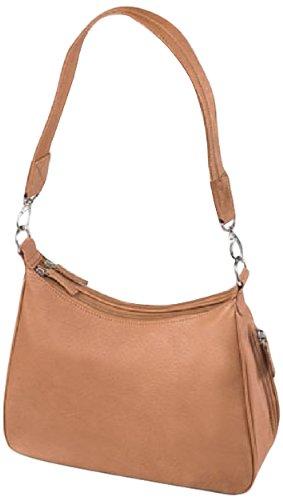 GTM Gun Tote'n Mamas Concealed Carry Basic Hobo Handbag, Tan, Small