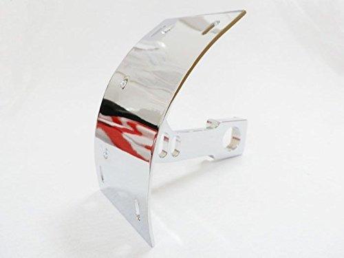 Chrome Billet AluminumCurved Swingarm Side Mount Curve License Plate Tag Relocator Bracket for Kawasaki 1998-2002 ZXR600 2003-2012 ZX6R 1996-2003 ZX-7R ZX-9R 2000-2005 ZX12R 2006-2013 (Billet Aluminum License Bracket)