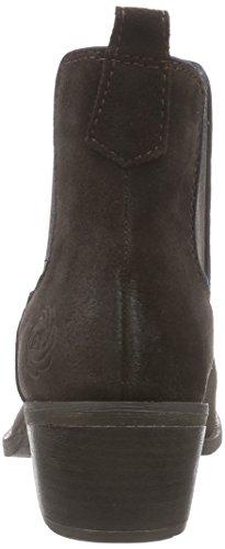 Marco Tozzi Premio 25073 - botines chelsea de cuero mujer marrón - Braun (Mocca Ant.Comb 395)