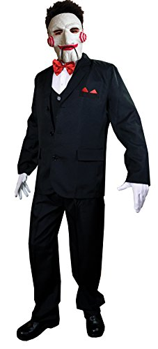 UHC Men's SAW Billy Killer Puppet Outfit Adult Fancy Dress Halloween Costume, OS ()