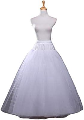 Kentop - 1 falda para vestido de novia, 4 capas, sin hueso, falda ...