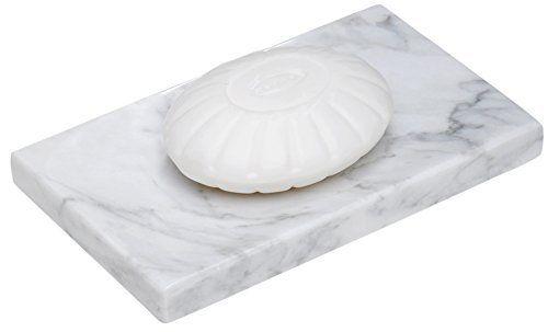 CraftsOfEgypt White Marble Soap Dish - Polished and Shiny Marble Dish Holder Beautifully Crafted Bathroom - Marble Dish Soap