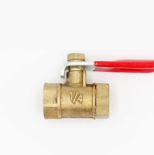 Color : Brass, Size : 1//2 no-branded Pneumatic 1//4 3//8 1//2 BSP Female Thread Mini Ball Valve Connector Joint Copper Fitting Coupler Adapter Valve ZYUS