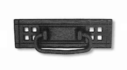 Cabinet Style Mission Hardware (Flat Black Mission Drawer Bail Pull Handle Centers: 4-1/4