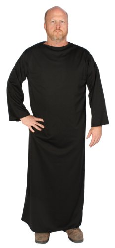 Black Gown Costume (Alexanders Costumes Long Sleeved Gown, Black, One Size)