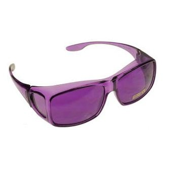 Color Therapy Glasses Fits Over Prescription Glasses (Violet)