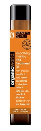 Organic World 25ml Brazilian Keratin Smoothing Therapy Anti Frizz Hair Treatment Oil 090221NAT