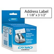 1O NEW BOXES OF DYMO LabelWriter Address Labels, White, 1-1/8