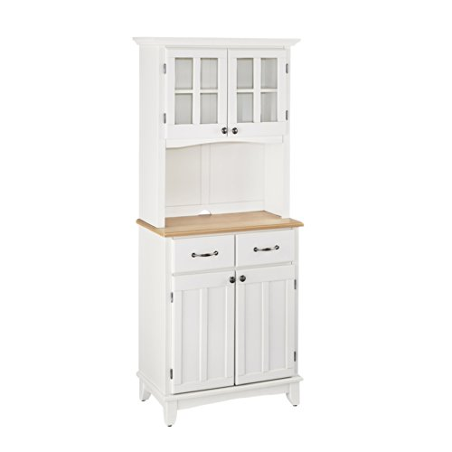 Home Styles 5001-0021-12 Buffet of Buffet 5001 Series Wood Top Buffet Server and Hutch, White Finish (Top Server Veneer)