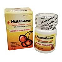 HURRICAINE TOPICAL ANESTHETIC LIQUID 20% 1OZ JAR CHERRY