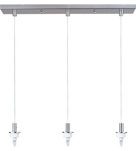 (Carte 3 Light Pendant Finish: Satin Nickel)