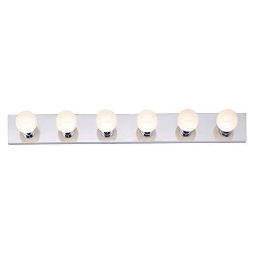 Nuvo SF77/194 Six Light Vanity Strip, Polished Chrome, 36-Inch (36 Light Vanity Bathroom)