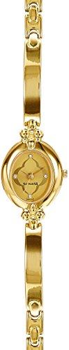 (Sonata Analog Champagne Dial Women's Watch - 8093YM01)