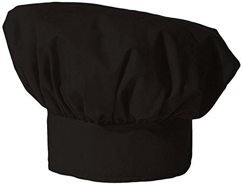 (Uncommon Threads Unisex Poplin Chef Hat, Black, One Size)