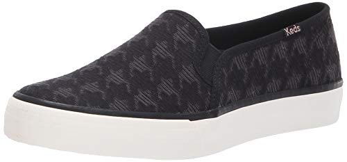 Keds Women's Double Decker Houndstooth Sneaker, Black, 10 M US