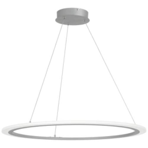 (George Kovacs P8141-609-L Discovery Pendant, 1-Light LED 27 Watts, Silver)