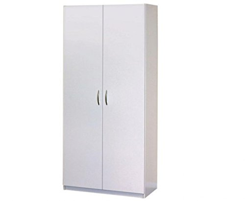 Closetmaid Storage Cabinet Cabinets White Storage Cabinet: Kize2016 2-Door Wardrobe Wood Cabinet Bedroom Furniture