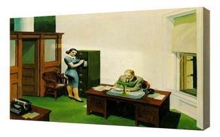 Edward Hopper - Office At Night Framed Canvas Art Print Reproduction