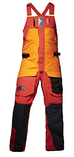 (Helly Hansen Men's Skagen Offshore Bib Overall, Blaze Orange, Small)