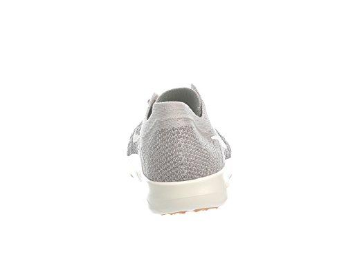 Nike Womens Free Tr Flyknit 2 Scarpe Da Corsa In Nylon Grigio Pallido / Carbone Chiaro / Verde Vintage