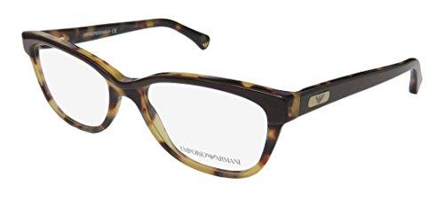 Emporio Armani Eyeglasses EA3015 5107 Havana/Brown Demo Lens 51 17 - Co & Emporio