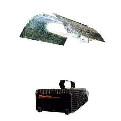 Hydrofarm Wing Reflector & Phantom Dimmable Digital Ballast Grow Light System Combo 400 Watt (Phantom 400 Watt Ballast)