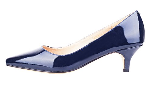 Kitten heels shoes women blue - Trenters.com