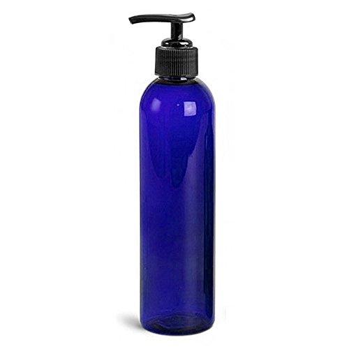 Royal Massage Empty Massage Oil Bottle with Pump, 8 Ounce , Blue